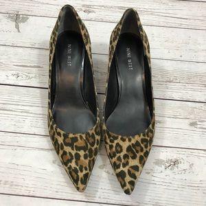 Leopard cheetah pumps 7.5